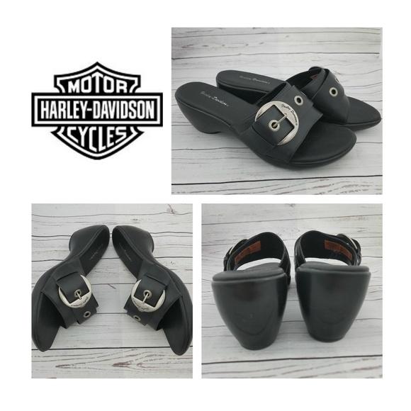 cf891738e640 Harley-Davidson Shoes - Harley-Davidson Sandals Womens Black Buckle 10
